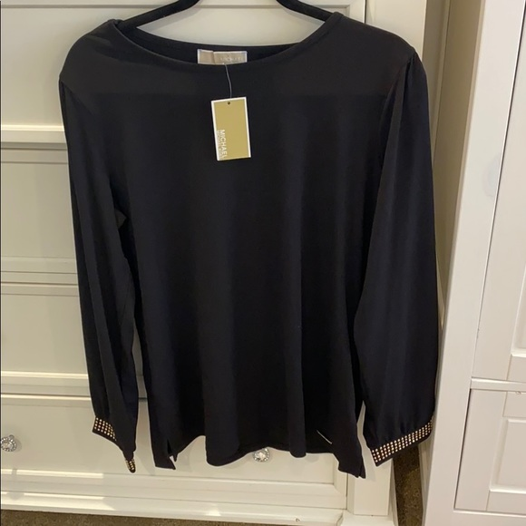 MICHAEL Michael Kors Tops - NWT Michael Kors blouse with gold studs on sleeves